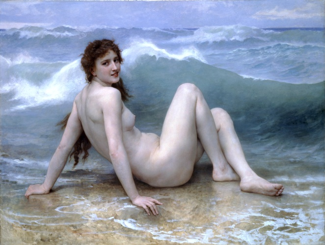 famous painting el de onda of William Adolphe Bouguereau