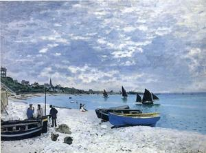 Claude Monet - la playa a  de Sainte-Adresse