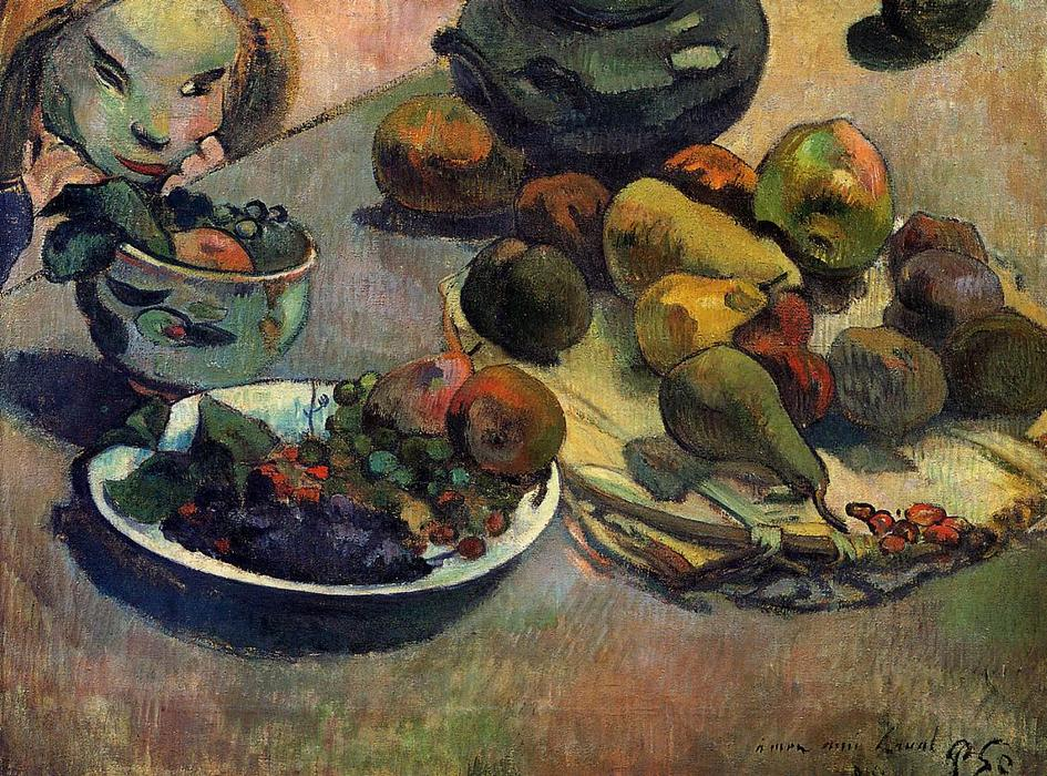 famous painting frutas of Paul Gauguin
