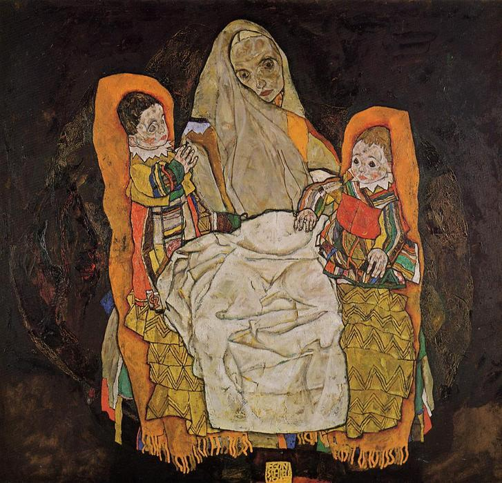 famous painting madre con dos hijos of Egon Schiele