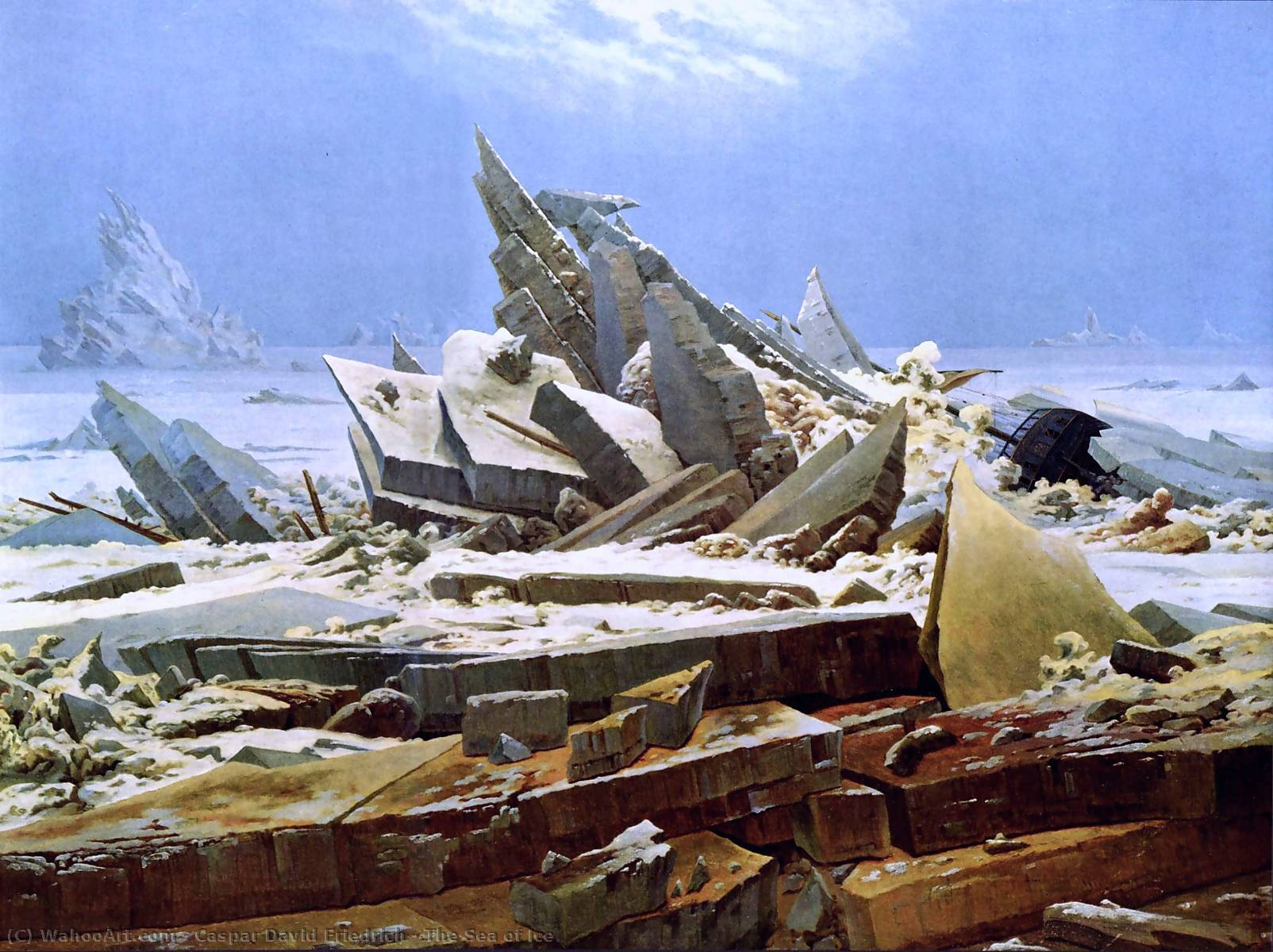 famous painting El mar del hielo of Caspar David Friedrich