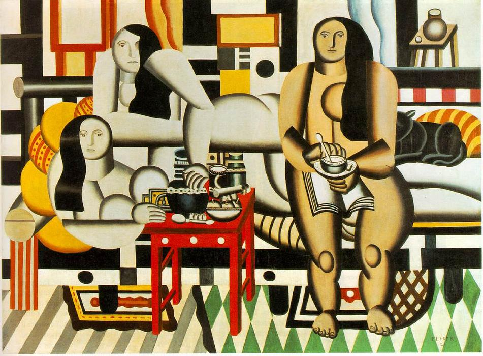 famous painting tres mujeres of Fernand Leger
