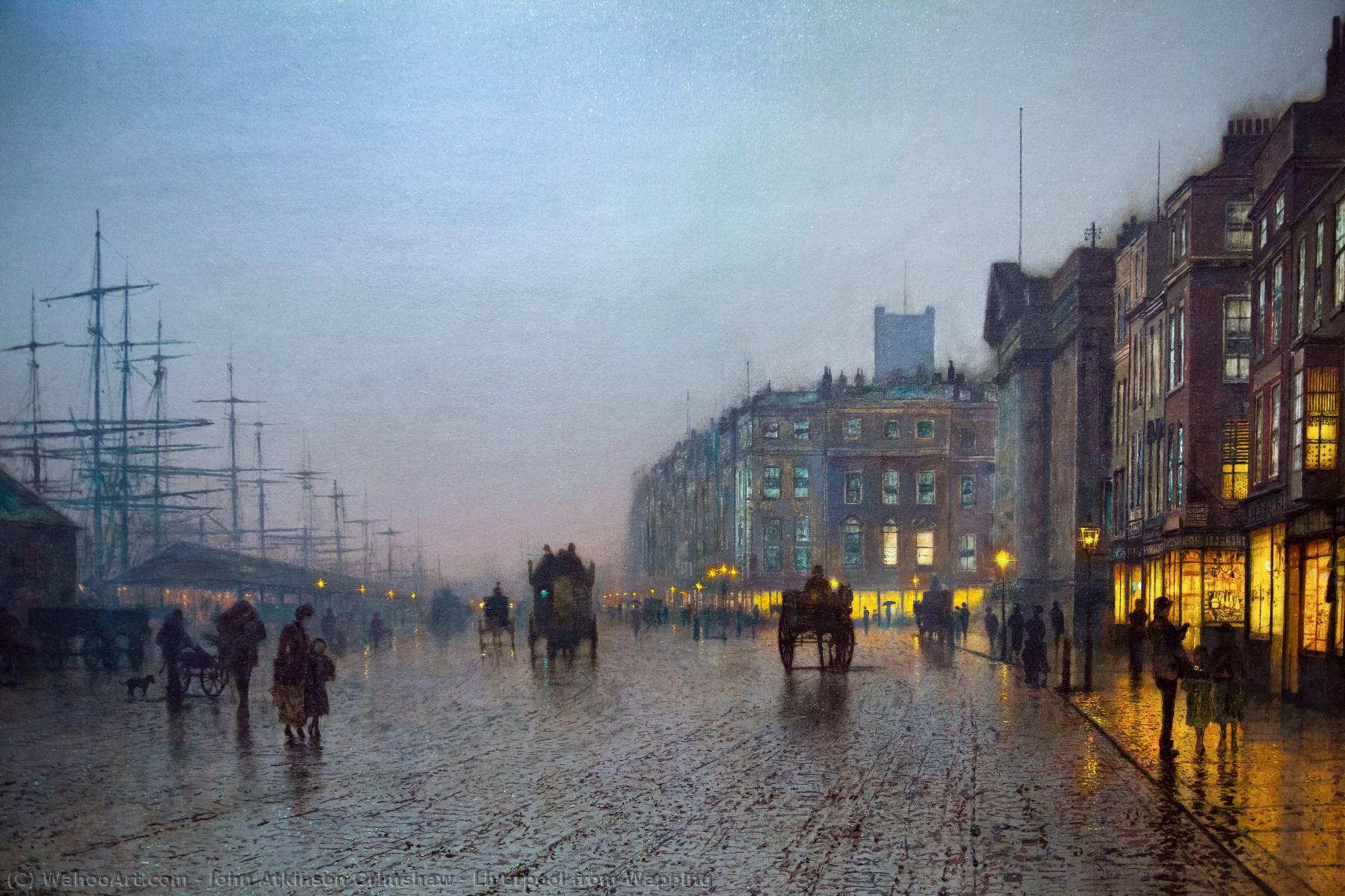 famous painting Liverpool desde Wapping of John Atkinson Grimshaw