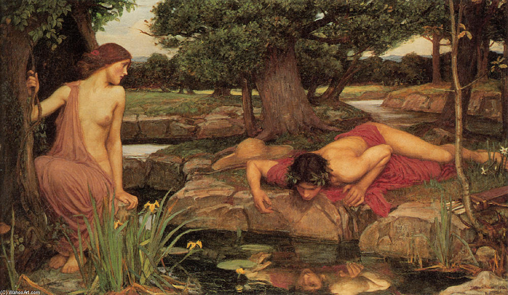 famous painting eco y narciso of John William Waterhouse