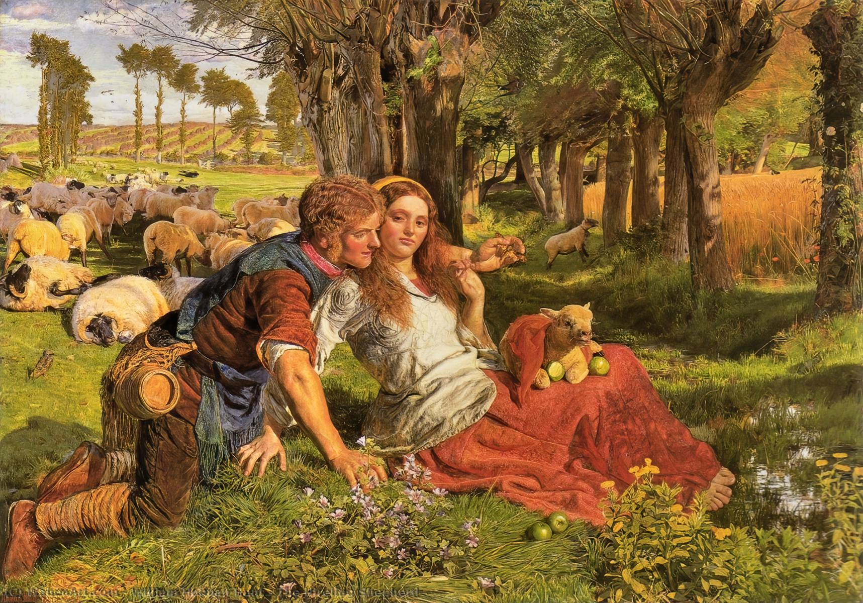 famous painting El pastor del Hireling of William Holman Hunt