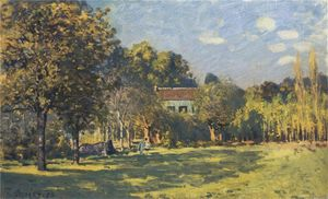 Alfred Sisley - a parque in Louveciennes
