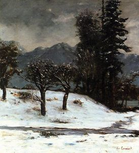 Gustave Courbet - nieve