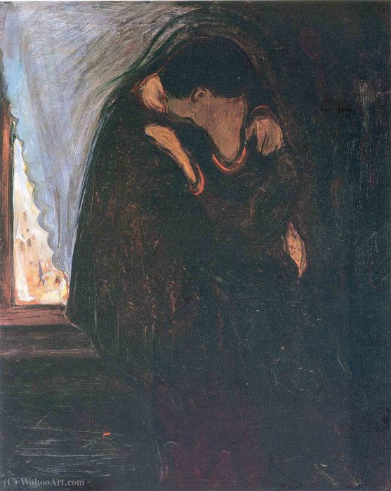 famous painting beso of Edvard Munch