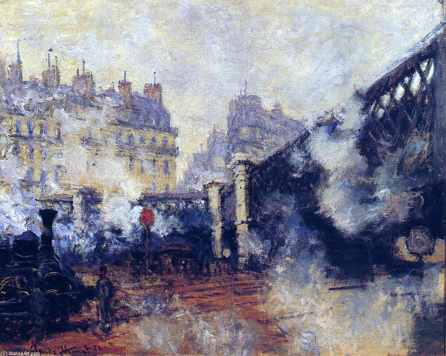 famous painting el pont delaware l'Europe , Gare Saint-Lazare of Claude Monet