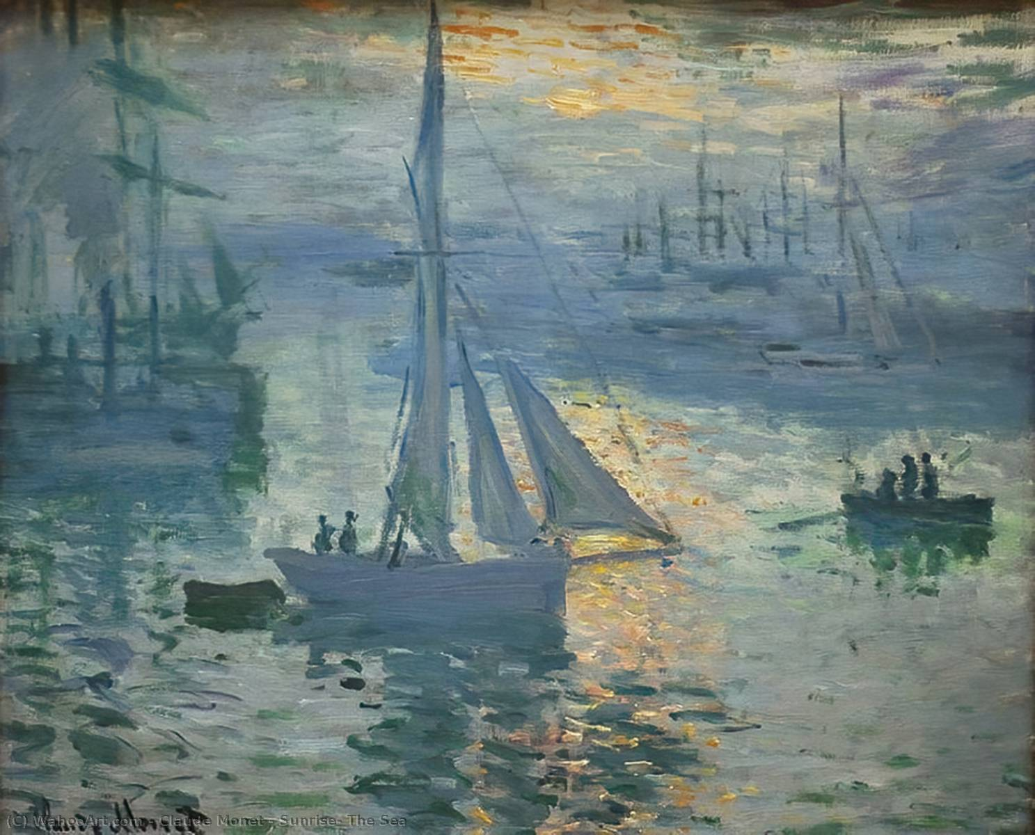 famous painting amanecer el  foca  of Claude Monet