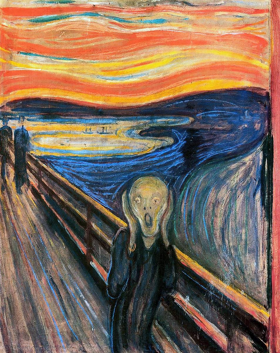 famous painting El Grito of Edvard Munch