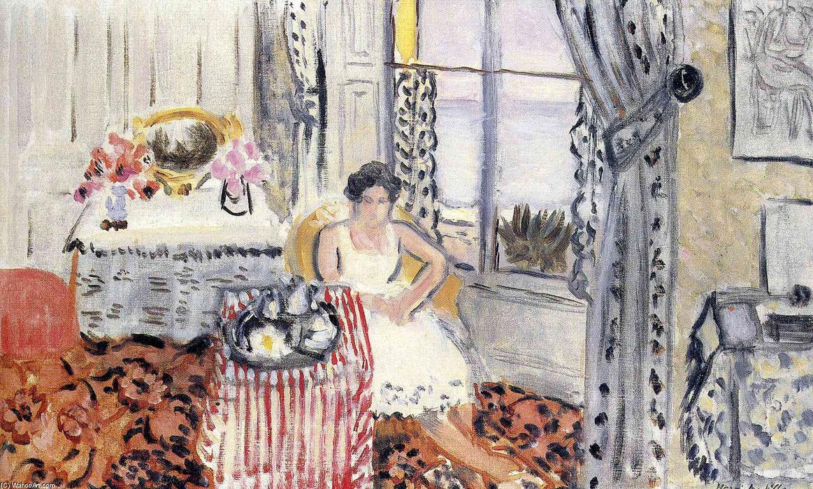 famous painting mujer por una ventana of Henri Matisse