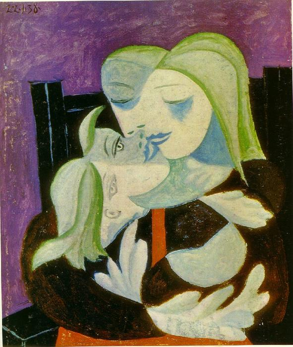 famous painting Madre e hijo ( Marie-Therese y maya ) of Pablo Picasso