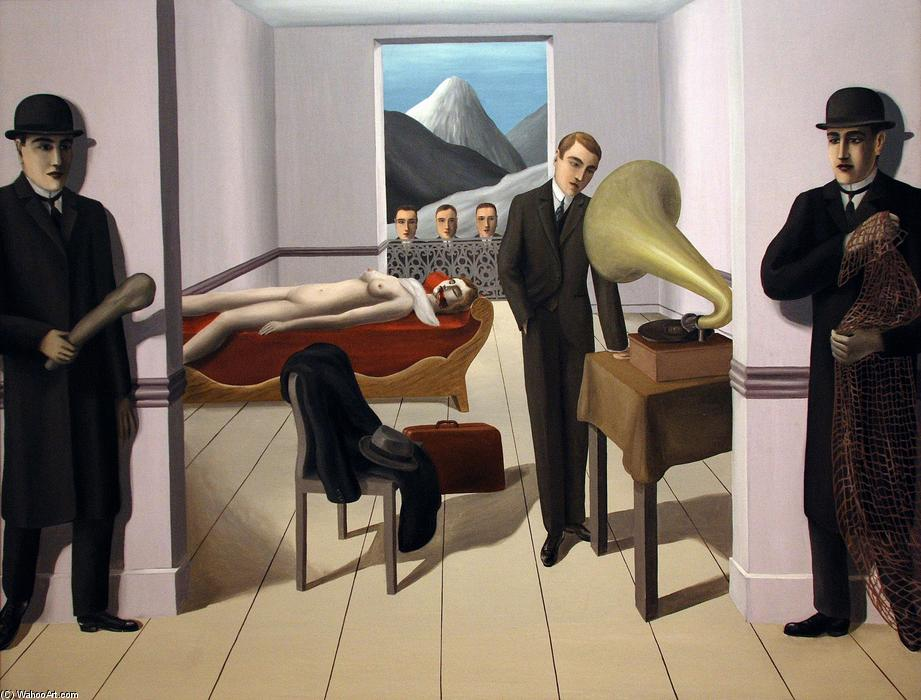 famous painting el asesino amenazado of Rene Magritte