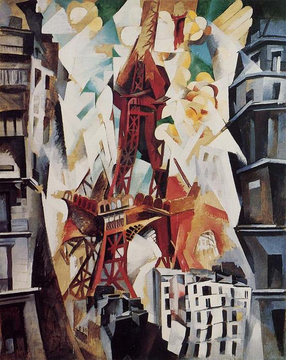 famous painting Eiffel Torre of Robert Delaunay