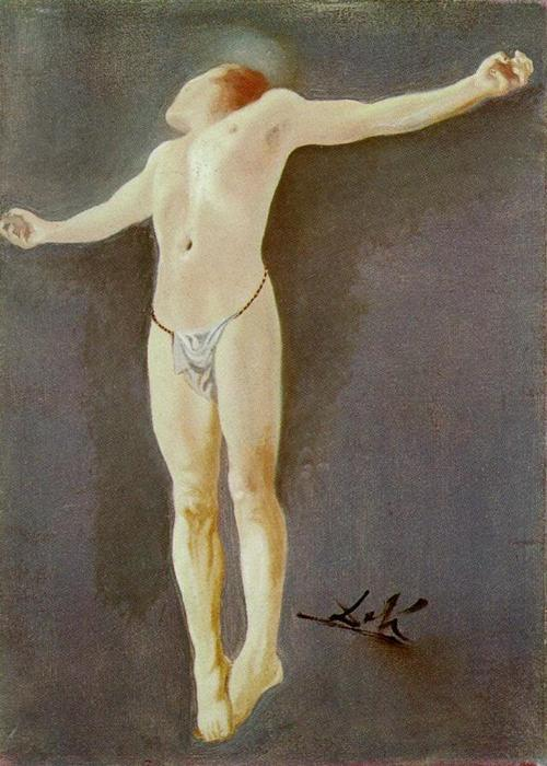 famous painting cruxificcion of Salvador Dali