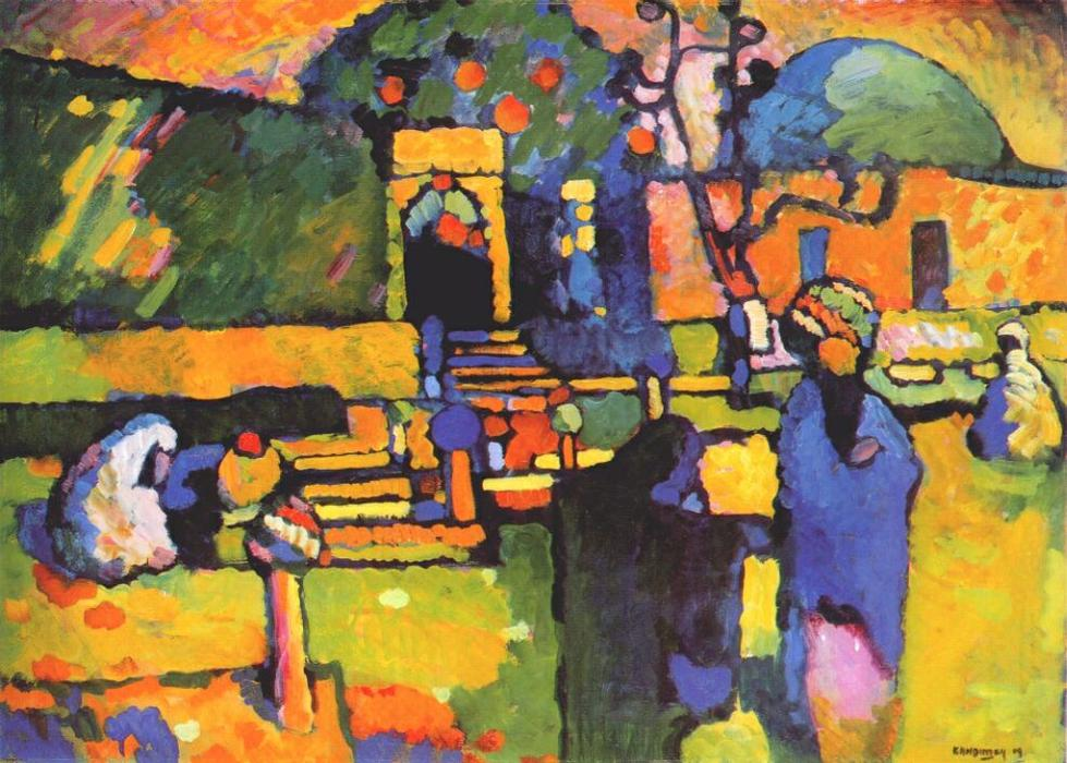 famous painting Árabes yo  camposanto  of Wassily Kandinsky