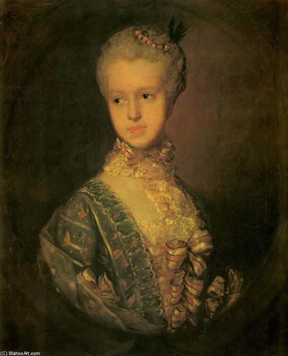 famous painting Elizabeth Wrottesly of Thomas Gainsborough