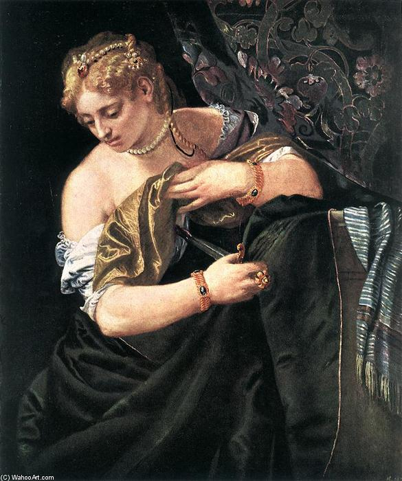 famous painting Lucrecia of Paolo Veronese