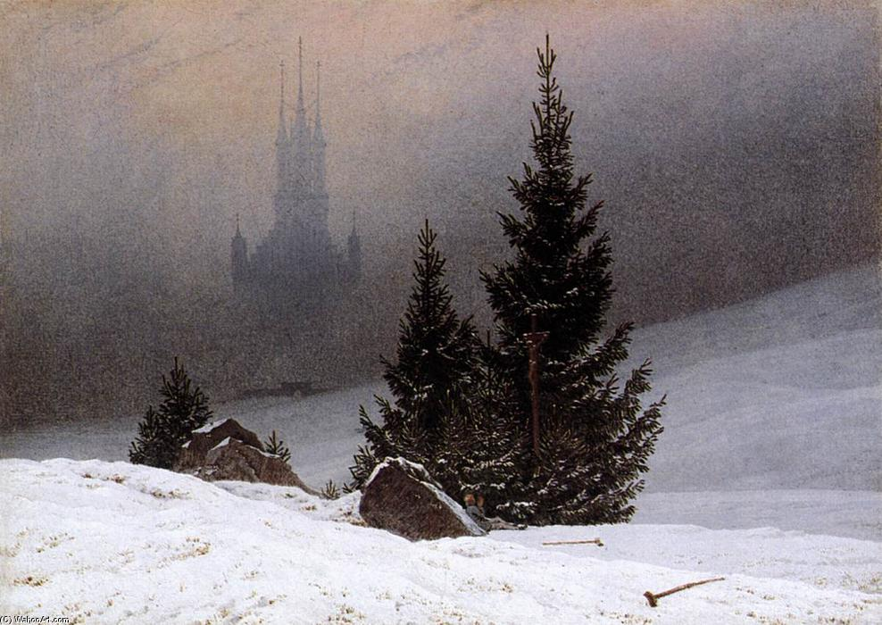 famous painting Paisaje de invierno of Caspar David Friedrich