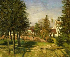 Camille Pissarro - The Pine Trees of Louveciennes ( también conocida as The Abeto Trees of Louveciennes )