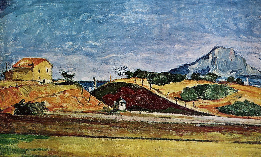 famous painting El corte de tren of Paul Cezanne