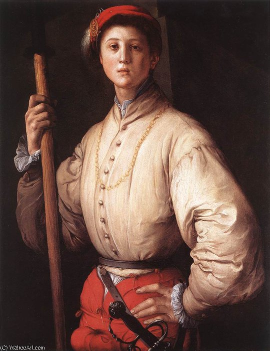 famous painting Alabardero of Jacopo Carucci (Pontormo)