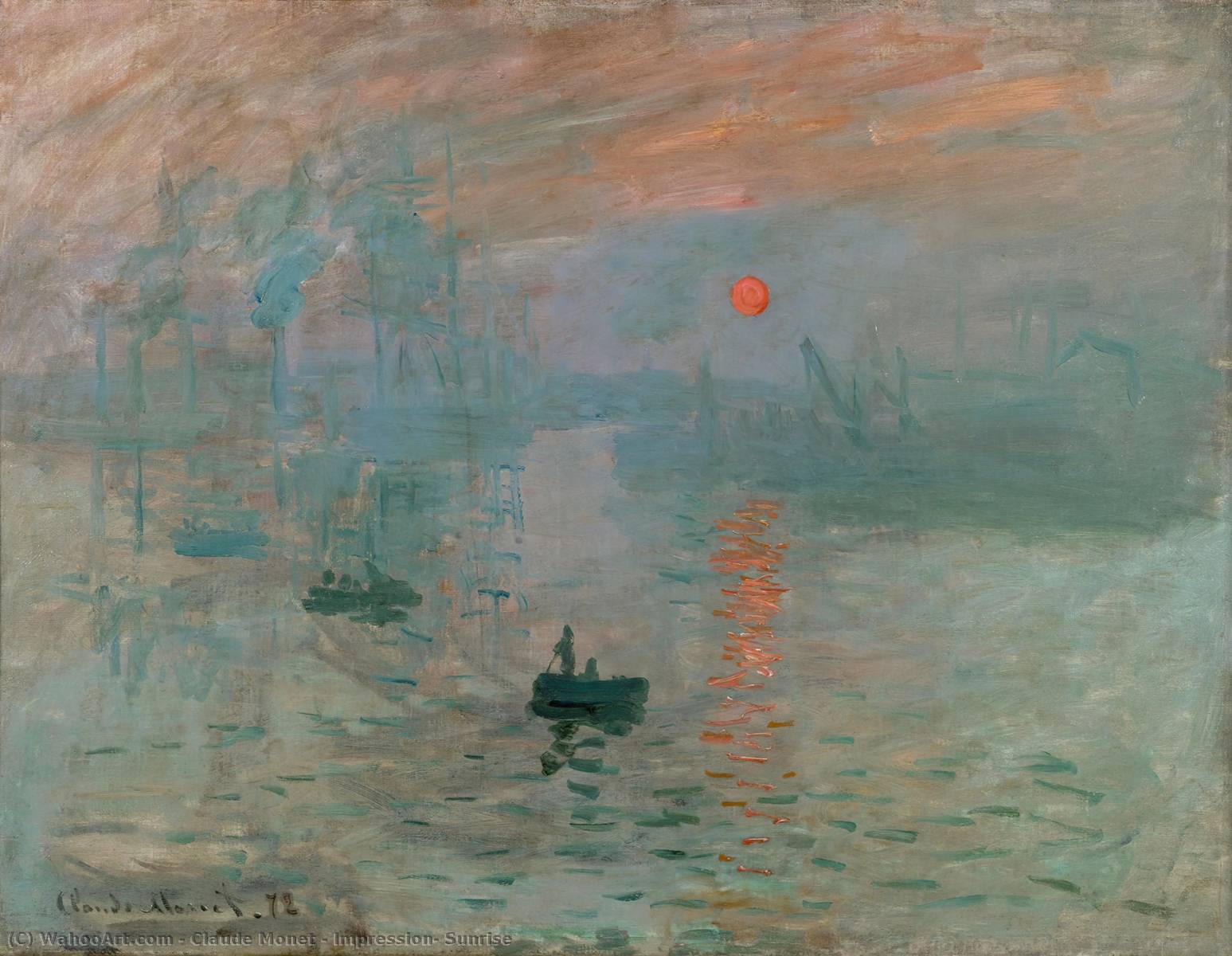 famous painting Impresión , Amanecer of Claude Monet