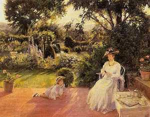 Lydia Field Emmet - Grandmother's Jardín , ( pintura )